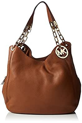 Michael Kors Fulton Large Leather Shoulder Tote 30H3GFTE3L Damen Schultertaschen 32x32x13 cm (B x H x T), Braun (Luggage 230)