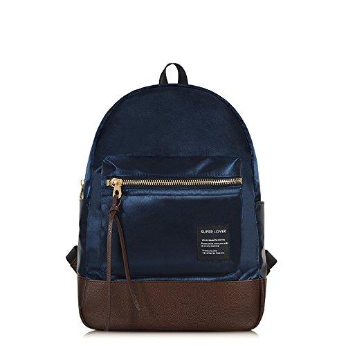 Signora alta capacità zaino tempo libero moda oxford tessuto tote spalla,l'azzurro Il blu