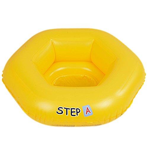 Jilong Baby Seat 67x63 cm Schwimmhilfe Schwimmsitz Babysitz Schwimmring Babysicherheitsring Sitzring Schwimmhilfe nach EN13138 mit 3 Luftkammern max 11kg