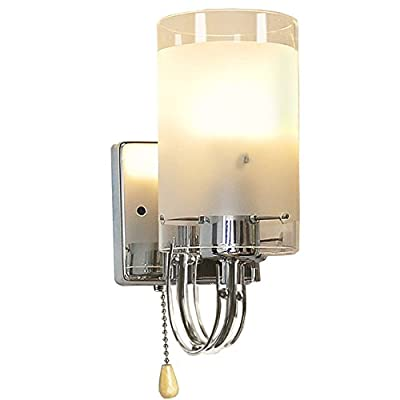 Midore Glass Shade Chrome Base Wall Light Lamp produced by Midore Direct - quick delivery from UK.