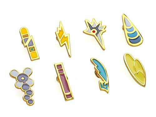 KeySmart Pokemon 8 Metall Anstecker der Einall Liga