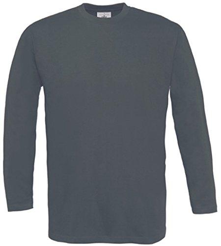 B&C - Longsleeve T-Shirt 'Exact 150 LS' Medium,Dark Grey - Medium Grey Collection