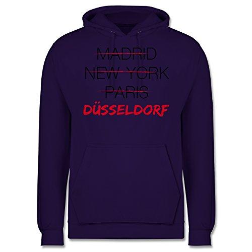 Städte - Weltstadt Düsseldorf - Männer Premium Kapuzenpullover / Hoodie Lila