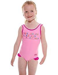 Zoggs Girl's Pretty Bird Scoop Back Swimming Costume