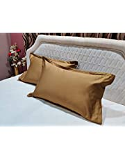 Trance Home Linen 100 Cotton 400TC Plain Pillow CoversPillo