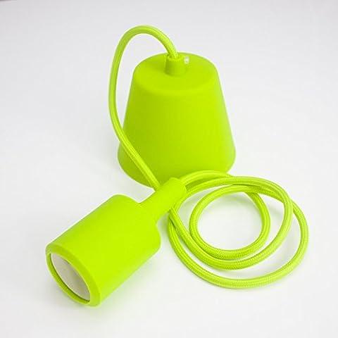 Nostralux® Deluxe Silicone Pendant - Modern Pendant Lighting Ceiling Rose E27 Socket - Green