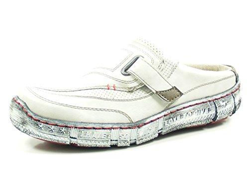 MUSTANG Damen Sabot Weiß/Grau (Ice), Schuhgröße:EUR 38
