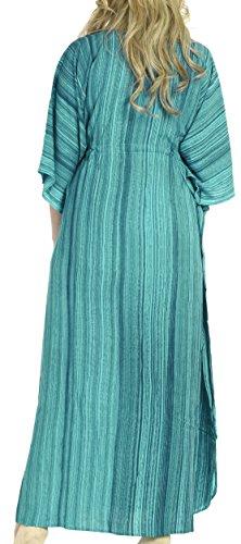 La Leela Ono la Leela Rayon Strand tragen Nacht Frauenkleid Kaftan langen Kaftan Kleid tragen Kieferngrün