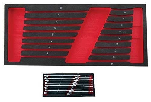 MODULO EVA VACIO PARA 17 LLAVES COMBINADAS 6-22mm. PARA CARRO DE HERRAMIENTAS