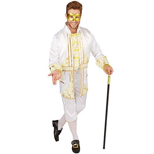 TecTake dressforfun Herrenkostüm Barock Kaiser | Extravagantes Karnevalskostüm für Herren | inkl. schicker Kniestrümpfe (XL | Nr. 301397)
