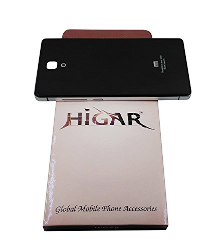 HIGAR Luxury Aluminium Tempered Glass Battery Back Case Cover for Xiaomi Redmi Note - Black and Silver