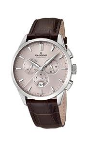 Candino C4517/1 - Reloj cronógrafo de cuarzo para hombre, correa de cuero color marrón (cronómetro) de Candino