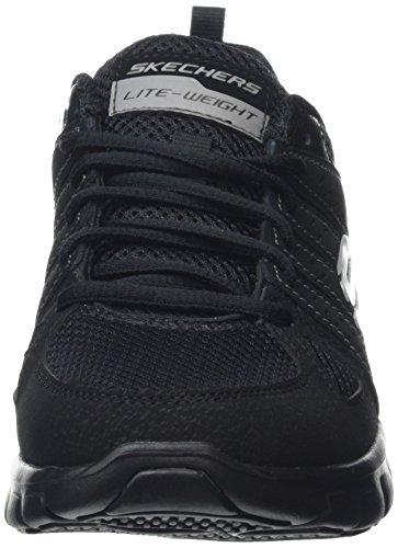 Skechers Synergy-Look Book, Chaussures de Running Compétition Femme Noir (BBK)