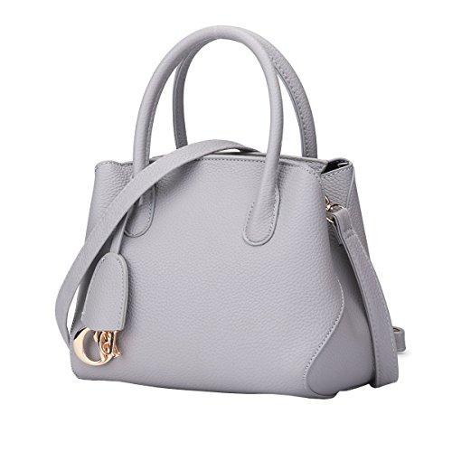DISSA S839 neuer Stil PU Leder Deman 2018 Mode Schultertaschen handtaschen Henkeltaschen,220×140×200(mm) Grau
