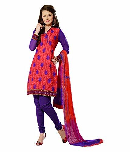 Tangerines Tfw Blue Color Unstitched Salwar Kameez Dress Material