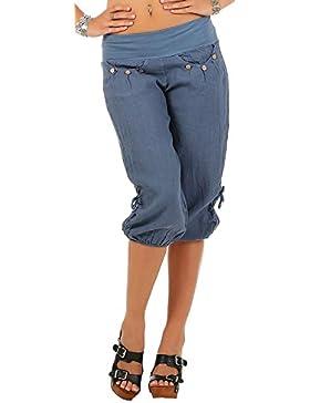 ShallGood Mujer Pantalón Bombacho Aladino Harem Pantalón 3/4 Yoga Baggy Aladin Boyfriend Sudadera Pantalón Corto...