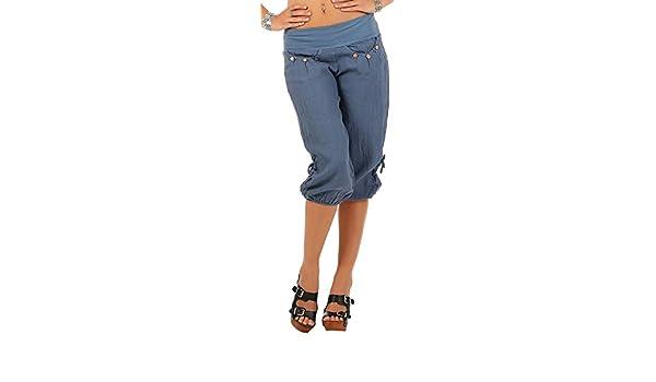 ShallGood Pantaloni 3 4 Donna Estivi Pantalone Bermuda Basic Casual Capri  Pantaloni di Lanterna Moda Vita Pantaloncini Boyfriend Harem Pantaloni   Amazon.it  ... 3eda7dc3a3a2