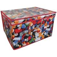 Preisvergleich für Jumbo großes Spielzeug Buch Betten Wäsche Kinder Kinder Aufbewahrungsbox Truhe–Bricks