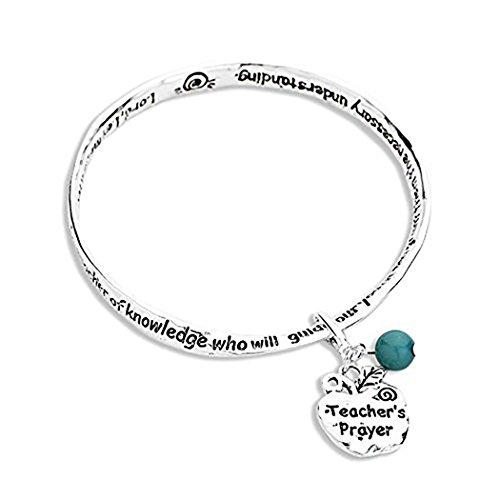 rosemarie-collections-donna-teachers-prayer-ciondolo-a-forma-di-braccialetto-colore-blu