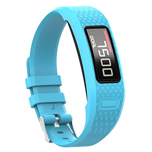 für Garmin Vivofit 1 2, Ersatz-TPU-Smart-Armband-Armband Wasserdichtes Armband für Garmin Vivofit 1 2 Sky Blue ()