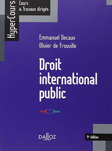 Droit international public - 9e éd.
