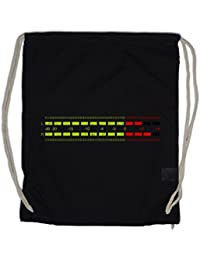 DB Meter I Drawstring Bag Decibel Music Bass Retro Radio Cassette Tape Record Vinyl Stereo Music Musik Recorder Studio Recording Producer Designer Shirt