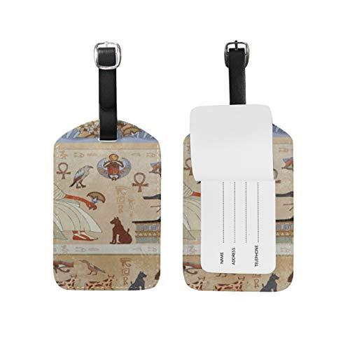 Antik Leder Gepäck (LUPINZ Gepäck/Visitenkartenhalter aus Leder, antikes ägyptisches Kulturdesign)