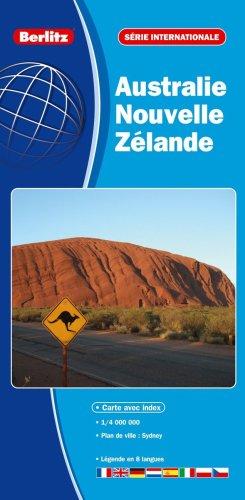 Carte de l'Australie et de la Nouvelle Zélande