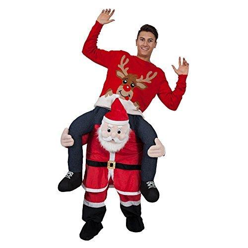 Me Kostüm Santa Carry - Adults Plush Carry Me Santa Fancy Dress Costume