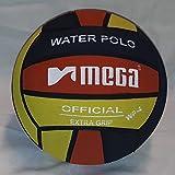 Water Polo Market Mega - Pallone da pallanuoto, Misura 4, Colore: Nero/Rosso/Giallo