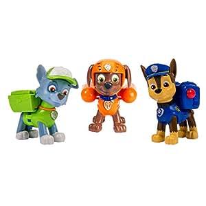 Paw Patrol 6024061 - Set 3 Cuccioli Action Pack - Chase, Rocky e Zuma
