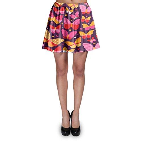 Hot Pink Butterflies Skater Skirt - XS Rock