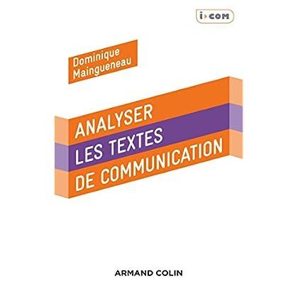 Analyser des textes de communication - 3e éd.