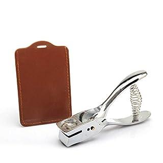 Awakingdemi Metal Hand Slot Puncher ID Card Badge Lanyard Slot Punch Plier Badge Hole Tag Tool Silver