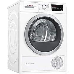 Bosch Serie 6 WTW87499FF sèche-linge Autonome Charge avant Blanc 9 kg A - Sèche-linge (Autonome, Charge avant, Pompe à chaleur, Blanc, Boutons, Rotatif, Gauche) [Classe énergétique A]