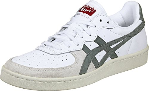 Onitsuka Tiger Gsm - Sneakers Basses - Mixte adulte Multicolore (White/Agave Green)