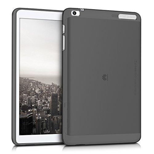 kwmobile Funda para Huawei MediaPad T1 10 - Carcasa [Trasera] para Tablet de [Silicona TPU] - Cover en [Negro/Transparente]