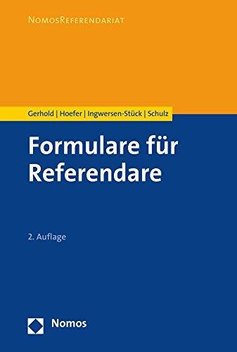 Formulare für Referendare by Sönke Gerhold (2016-05-31)