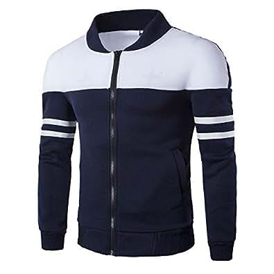 Top Cardigan Coat Jacket Uomo Autunno Inverno Moda Slim Hooded,YanHoo Maglie a manica lunga da uomo, Felpe da escursionismo da uomo,Abbigliamento da Pallamano S/M/L/XL/XXL (M, Marina Militare)