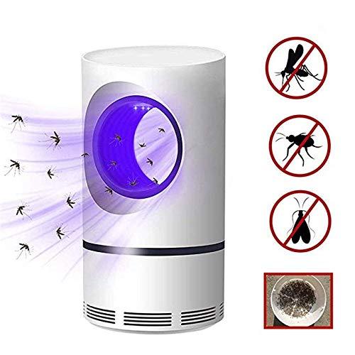USB Lámpara de Mata Mosquitos Moscas Electrico Fotocatalizador, Atrapa UV Lampara para Mata Mosquitos y Insectos,360° LED Insectos Trampa Lámparade,Sin Productos Químicos y Radiación, Mute portátil