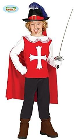 Musketier - Kostüm für Kinder Gr. 98 - 134, Größe:128/134 (Frankreich Kostüm Für Jungen)