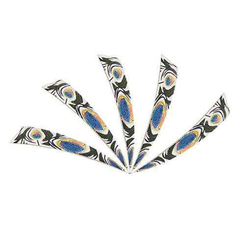 n für Pfeile 5 Stück 10cm Federn Volle Länge Pfeilfedern - Rechts Flügel - Bunt (Feder Pfeil)