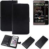K-S-Trade 360° Wallet Case Handyhülle für Allview P9 Energy Lite (2017) Schutz Hülle Smartphone Flip Cover Flipstyle Tasche Schutzhülle Flipcover Slim Bumper schwarz, 1x