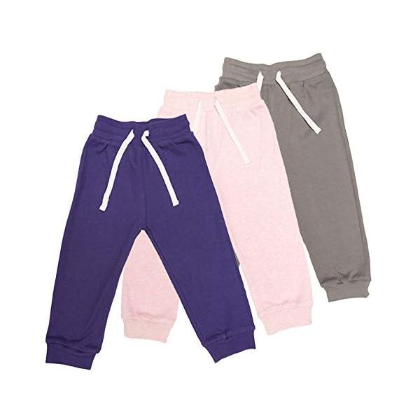 Lovjoy Pantalones Jogger bebés niñas/Pantalones Informales / 100% algodón, Suaves y cómodos 1