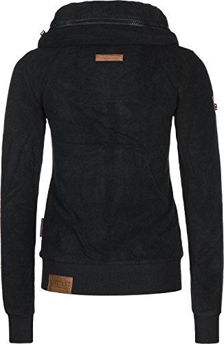 Naketano Damen Zipped Jacket Redefreiheit? IV, Black, Gr. M