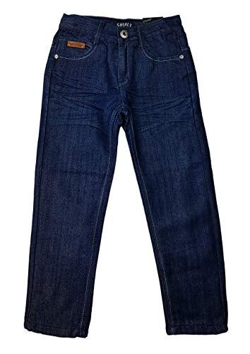 Shialy warme Jungen Thermohose, Jeanshose in Blau, Gr. 110/116, JTn48.6