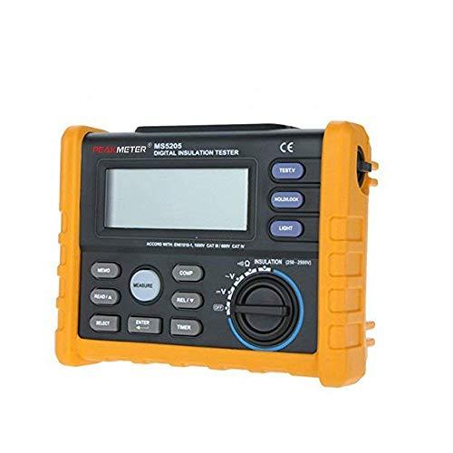 Digitales Isolationsmessgerät, Widerstandsmessgerät Multimeter Megohmmeter Auto Power Off 5 PM5205 Does, Enthält Keine Batterie