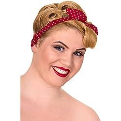 Banned - Cinta para el pelo - para mujer Red/Rose Talla única