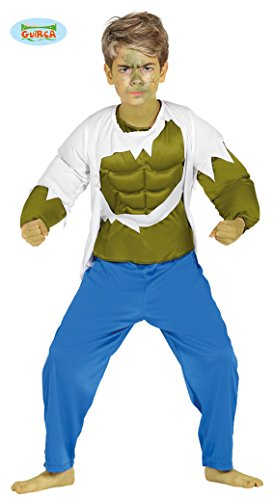 Superheld Kostüm für Kinder Gr. 98 - 146, Größe:98/104 (Muskelprotz Kostüm)