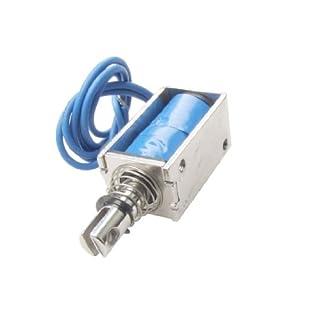 sourcing map® Elektrischer Gleichstrom-Hubmagnet, 12V, Schubmagnet, offenes Gehäuse, 5N, 10mm DE